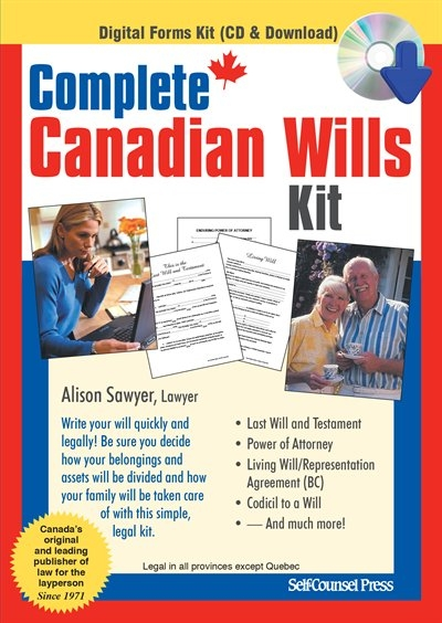 Complete canadian wills kit book by alison sawyer cd rom complete canadian wills kit book by alison sawyer cd rom chaptersdigo solutioingenieria Gallery