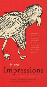 First Impressions: The Fledgling Years of the Black Sparrow Press 1966-1970