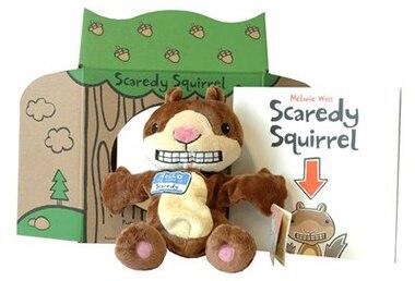 Scaredy Squirrel -- PB / Plush / Puppet by Mélanie Watt