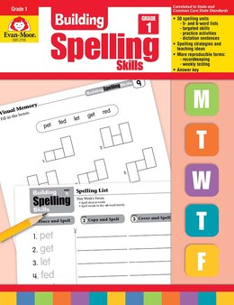 Book Building Spelling Skills Grade 1 by .. Evan-moor Educational Publishers