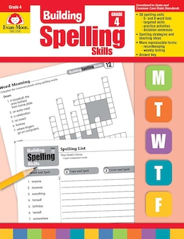 Book Building Spelling Skills Grade 4 by .. Evan-moor Educational Publishers