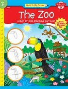 The Zoo: A step-by-step drawing & story book
