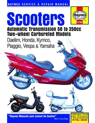 Scooters Automatic Transmission 50 to 250cc Two-Wheel Carbureted Models by Editors Of Editors Of Haynes Manuals