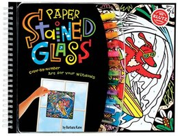 Book Paper Stained Glass: Color-by-Number Art for Your Windows by Barbara Kane