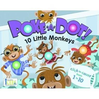 Poke-A-Dot! 10 Little Monkeys: Poke-A-Dot! by Travis innovativeKids