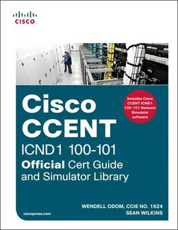 Book Ccent Icnd1 100-101 Official Cert Guide And Simulator Library by Wendell Odom