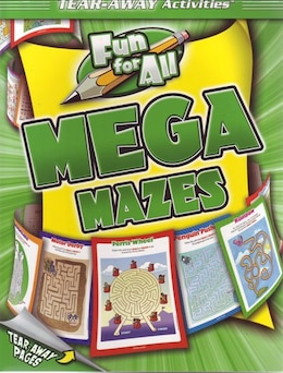 Book Fun For All Mega Mazes Tearaway Pad by Kidsbooks