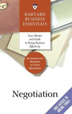 Book Negotiation by Harvard Business School Press