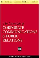 Book The Essentials of Corporate Communications and Public Relations by Harvard Business School Press