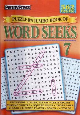 Book Penny Press Jumbo Bk Of Word Seeks 7 by Press Penny