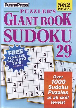 Book PUZZLERAES GIANT BK OF SUDOKU NUM29 by Na