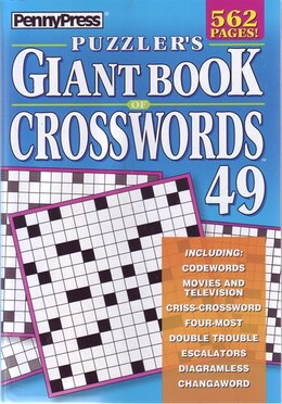 Book PUZZLERS GIANT BK OF XWORDS NUM49 by Press Penny