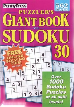 Book PUZZLERS GIANT BK OF SUDOKU NUM30 by Press Penny