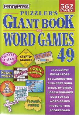 Book PUZZLERS GIANT BK OF WORD GAMES NUM49 by Press Penny