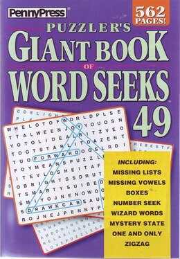 Book PUZZLERS GIANT BK OF WORD SEEKS NUM49 by Press Penny
