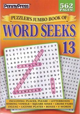 Book PUZZLERS JUMBO BK OF WORD SEEKS NUM13 by Press Penny