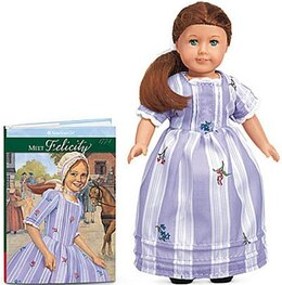 Book Felicity 6 Inch Mini Doll With Book by American Girl