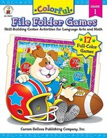 Colorful File Folder Games: Skill-Building Center Activities
