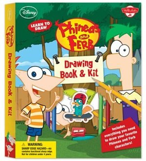 Learn To Draw Disney's Phineas And Ferb Drawing Book & Kit: Includes Everything You Need To Draw Candace, Agent P, And Your Other Favorite Characters From The by Disney Storybook Artists