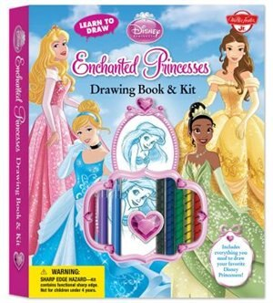 Learn To Draw Disney's Enchanted Princesses Drawing Book & Kit: Includes Everything You Need To Draw Your Favorite Disney Princesses! by Disney Storybook Artists