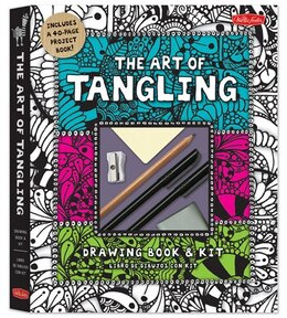 Book The Art Of Tangling Drawing Book & Kit: Inspiring Drawings, Designs & Ideas For The Meditative… by Walter Foster Creative Team