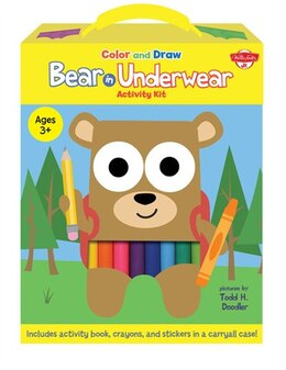 Book Color And Draw Bear In Underwear Activity Kit: Includes Activity Book, Crayons, And Stickers In A… by Todd H. Doodler