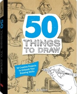 Book 50 THINGS TO DRAW by Tadem Ed