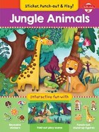 Jungle Animals: Interactive Fun With Fold-out Play Scene, Reusable Stickers, And Punch-out, Stand…