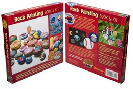 Book Rock Painting by Na