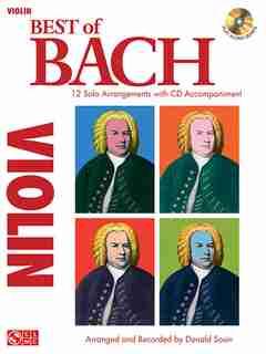 Best Of Bach: 12 Solo Arrangements with CD Accompaniment by Johann Sebastian Bach