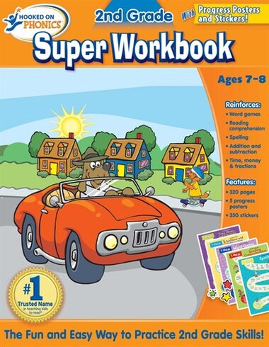 Hooked on Phonics 2nd Grade Super Workbook by Hooked On Phonics.