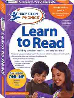 Hooked on Phonics Learn to Read - Level 3: Word Families (Early Emergent Readers  Kindergarten  Ages 4-6)