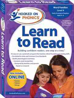 Hooked on Phonics Learn to Read - Level 4: Word Families (Early Emergent Readers  Kindergarten  Ages 4-6) by Hooked On Phonics.