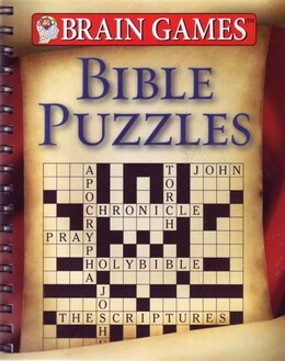 Book Brain Games Bible Puzzles by Publications International