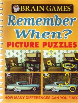 Book Brain Games Remember When Picture Puzzle by Publications International