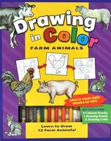 Book Drawing In Colour Farm Animals by Flying Frog Studios