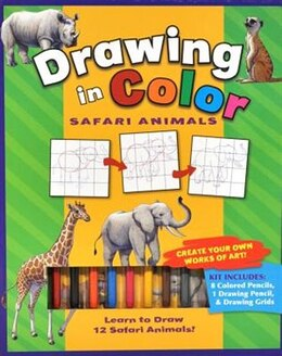 Book Drawing In Colour Safari Animals by Flying Frog Studios