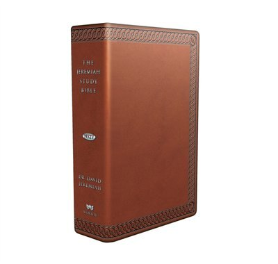 The Jeremiah Study Bible, Nkjv: (brown W/ Burnished Edges) Leatherluxe® W/thumb Index: What It Says. What It Means. What It Means for You. by David Jeremiah