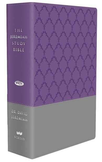 The Jeremiah Study Bible Purple/gray Burnished Leatherluxe Thumb Index Edition: What It Says. What It Means. What It Means For You. by David Jeremiah