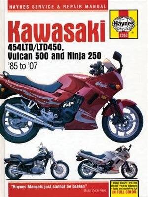 Kawasaki 454ltd/ltd450, Vulcan 500 Ninja 250 '85 To '07 by Editors Of Haynes Manuals
