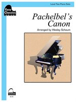 Pachelbel's Canon: Schaum Easy Classics Level 2 Piano Solo Sheet