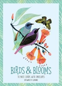 Birds & Blooms Artwork By Geninne: 10 Note Cards And Envelopes by Geninne