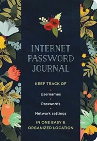 Internet Password Logbook Modern Floral by Mia Charro