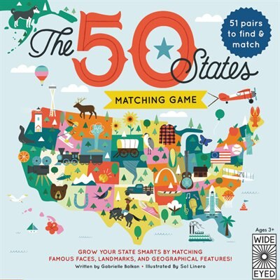 The 50 States Matching Game by Gabrielle Balkan