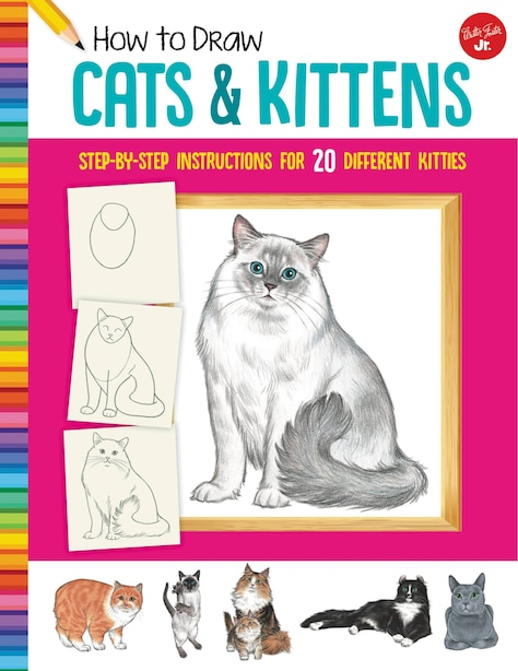 How To Draw Cats & Kittens: Step-by-step Instructions For 20 Different Kitties by DIANA FISHER