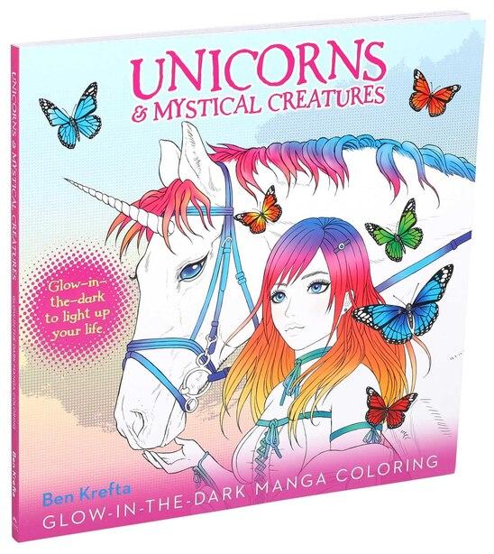Unicorns & Mystical Creatures Glow-in-the-dark Manga Coloring by Ben Krefta