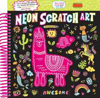 Neon Scratch Art by Editors Of Silver Dolphin Books