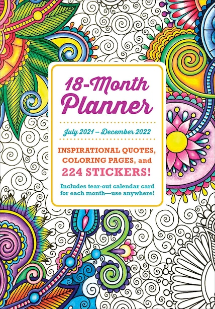 2022 Coloring Planner by Editors Of Thunder Bay Press