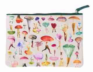 Art Of Nature: Fungi Accessory Pouch: (gifts For Mushroom Enthusiasts And Nature Lovers, Cute Stationery, Back To School Supplies) by Insights