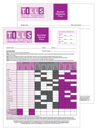 Test Of Integrated Language And Literacy Skills' (tills' ) Forms